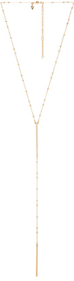 Rebecca Minkoff Beaded Pave Bar Necklace $68 thestylecure.com