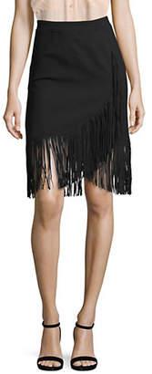 Maje Fringed Midi Skirt