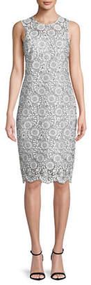 Calvin Klein Floral Lace Sheath Dress