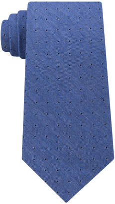 Calvin Klein Men's Dark Denim Dot Tie