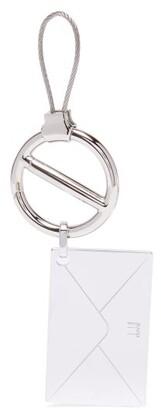 Dunhill Envelope Engraved Key Ring - Mens - Silver