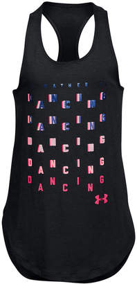 Under Armour Big Girls Dancing-Print Tank Top