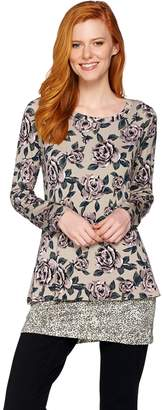 Logo By Lori Goldstein LOGO by Lori Goldstein Floral Printed Knit Twin Set