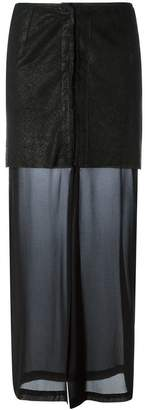 Lost & Found Ria Dunn perforated layer skirt