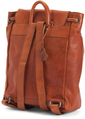Spikes & Sparrow Leather Drawstring Backpack