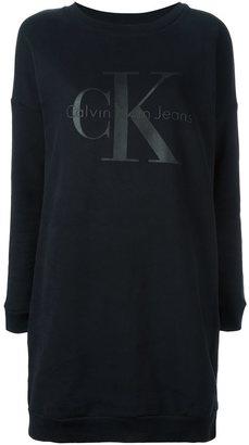 Calvin Klein Jeans logo print sweatshirt dress $119.19 thestylecure.com