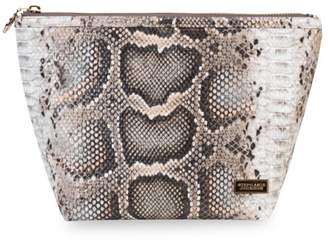Stephanie Johnson Large laura Java Coffee Python Trapezoid Cosmetic Pouch