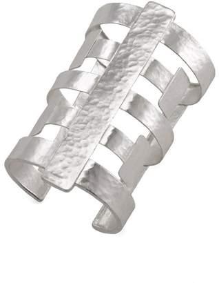 Josie Natori Silver Geo Cuff