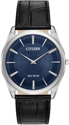 Citizen Multifunction Eco-Drive Stainless Steel Leather-Strap Watch