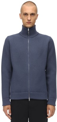 Maison Margiela ZIP-UP WOOL KNIT SWEATER