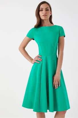 Closet Womens Short Sleeve Skater Dress - Green
