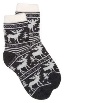Sof Sole Fireside Moose Women's Ankle Socks