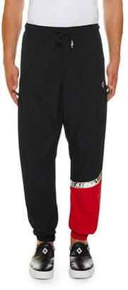 Marcelo Burlon County of Milan Men's County Logo Multicolor Pants