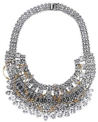 Tom Binns Crystal and Barbed Wire Collar Necklace
