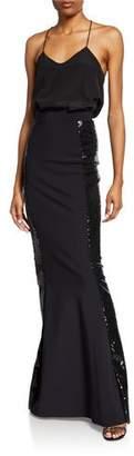 Chiara Boni Sherilyn Sparkle Side Sequin Skirt