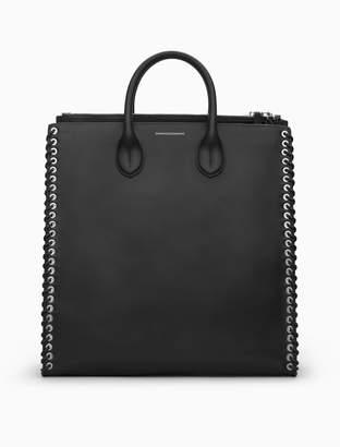 Calvin Klein whip stitch leather tote