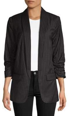 Kensie Long Pinstriped Blazer