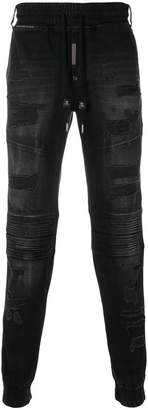 Philipp Plein distressed track pants