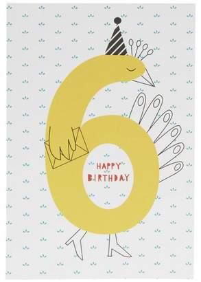 Karin Akesson Happy Birthday Age 6 Card