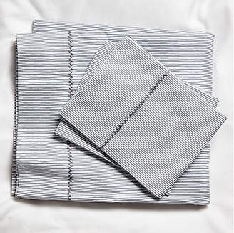 Capelini Stripe Sheet Set - Gray - Roller Rabbit