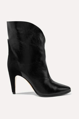 Givenchy Gv3 Suede-trimmed Textured-leather Ankle Boots - Black