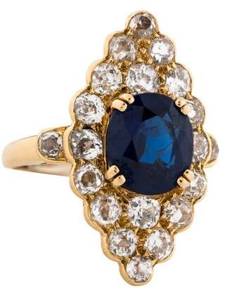 Chaumet 18K Sapphire & Diamond Cocktail Ring