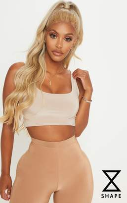 PrettyLittleThing Shape Stone Strappy Scoop Neck Crop Top