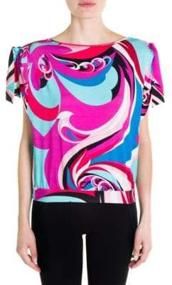Emilio Pucci Silk Jersey Short-Sleeve Top