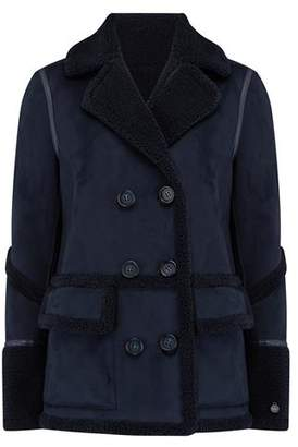 Urban Code Urbancode Izzi Shearling Patch Pocket Coat in Navy