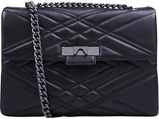 Kurt Geiger Mayfair Leather Large Cross Body Bag, Black