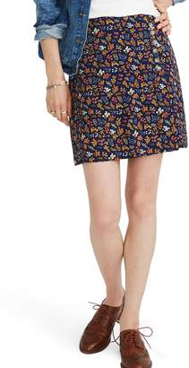 Madewell Side Button A-Line Miniskirt