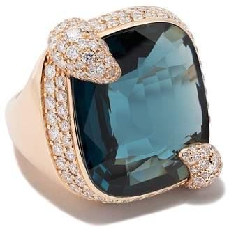 Pomellato 18kt rose gold Ritratto topaz & diamond ring