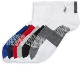 Ralph Lauren Big Kid's Three-Pack St. James Striped Sock Set