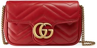Gucci GG Marmont matelassé leather super mini bag