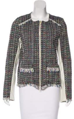 Ramy Brook Leather-Trimmed Tweed Jacket