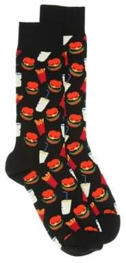 Happy Socks Hamburger Men's Crew Socks