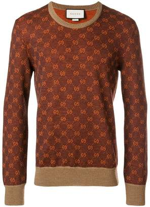 Gucci GG patterned jumper