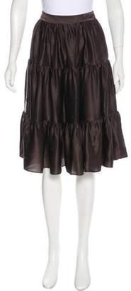 Derek Lam Silk Knee-Length Skirt