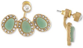 Rachel Roy Gold-Tone Blue Stone Floater Earrings