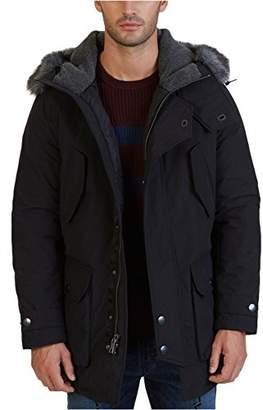 Nautica Men's Long Sleeve Hooded Down Parka Jacket