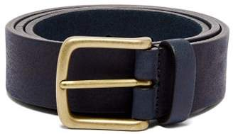 Andersons Anderson's - Pebbled Leather Belt - Mens - Navy