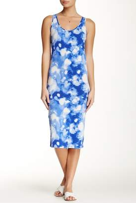 Alternative Print Racerback Midi Dress