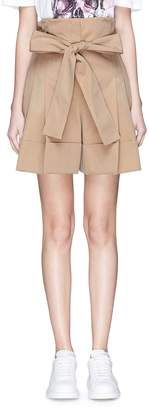 Alexander McQueen Belted suiting shorts
