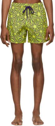 Vilebrequin Yellow Oursinade Moorise Swim Shorts
