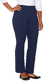 Denim & Co. Active Petite French TerryBoot Cut Pants