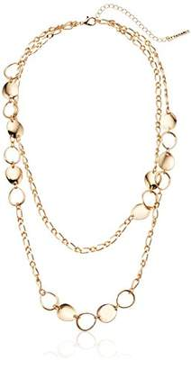 T Tahari Circles Chain Necklace