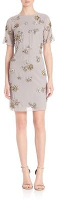 Laundry by Shelli Segal PLATINUM Brooch Embellished Dress $595 thestylecure.com