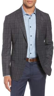 Ted Baker Konan Trim Fit Windowpane Wool Sport Coat