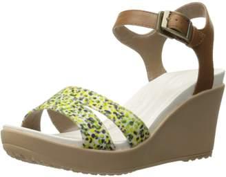 Crocs Women's Leighii Anklestrap Graphic Wedge Sandal