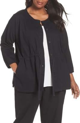 Eileen Fisher Shirttail Hem Organic Cotton Jacket